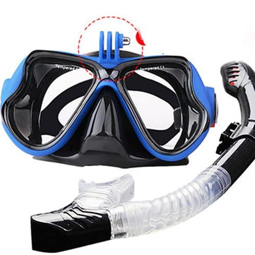 Profesional máscara de buceo cámara máscara de buceo gafas de natación buceo equipo de buceo pulmón soporte de cámara máscara natación subacuática máscara de buceo máscara de buceo