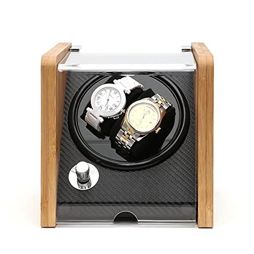 HBNNBV Cuero Reloj Caja Reloj de Lujo automático Caja de bayador Accesorios de visualización Mecnica de Madera para el Almacenamiento de Madera de Macho Mando de Metal Interruptor rectángulo Guardar