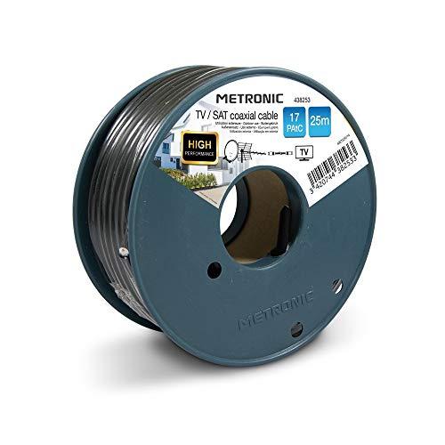 Metronic Câble coaxial TV / SAT 17 PAtC 25 m