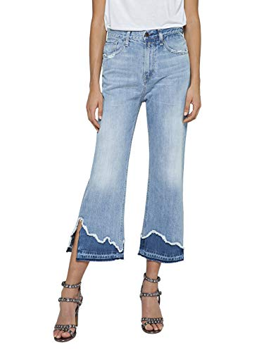 Replay Damen Agathe Straight Jeans, Blau (Light Blue 10), W29 (Herstellergröße: 29)