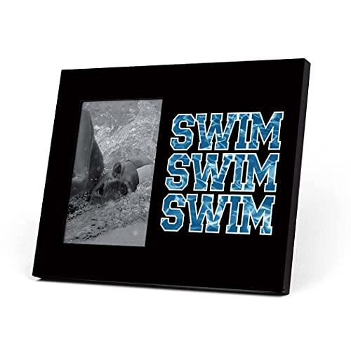 Swimming Photo Frame | Swim Swim Swim Picture Frame | BLACK