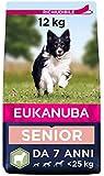 Eukanuba Cibo secco per cani anziani di taglia piccola e media, ricco di agnello e riso, 12 kg