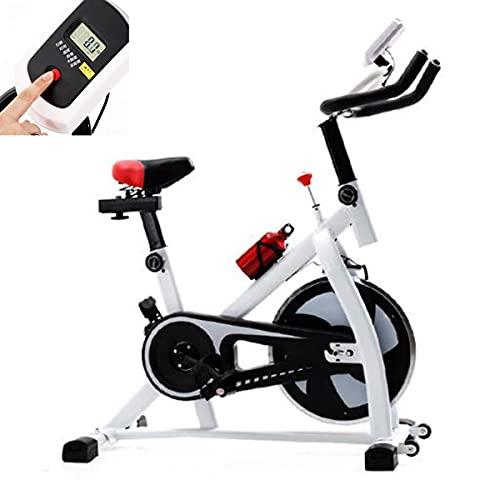 Bicicleta de Ejercicio Interior con Pantalla LCD Asiento Ajustable y Manillar de Ciclismo para Entrenamiento Cardiovascular en casa, hasta 150 Kg