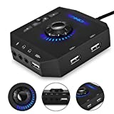 External Sound Card, PHOINIKAS USB Hubs, with Stereo Audio Adapter, with 3.5 mm...