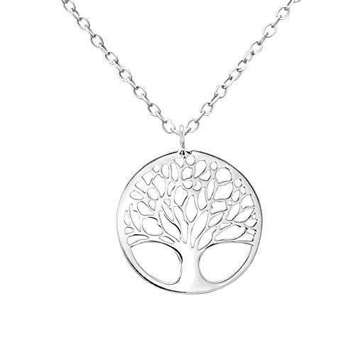 Laimons Damen-Anhänger mit Kette Baum des Lebens glanz Sterling Silber 925