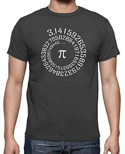 latostadora - Camiseta Número Pi para Hombre Gris ratón L