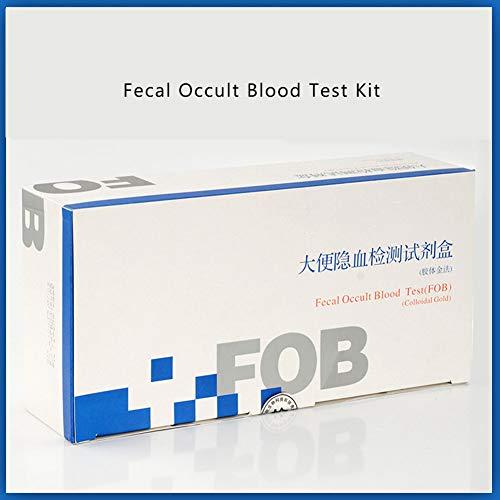 DZWJ Medizinische Teststreifen für okkultes Blut im Haushalt für okkultes Blut im Stuhl zur Erkennung von Darmkrebs 100 Artikel