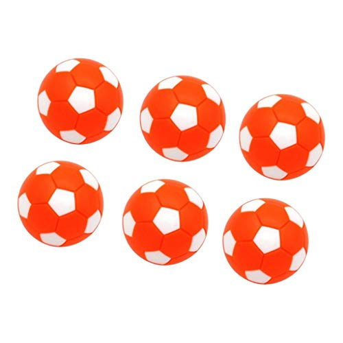 Hellery 6pcs / Pack Foosball Balls Reemplazo de Pelota de Fútbol de - Naranja