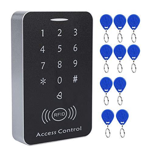Zutrittskontrolle, Touchscreen Hinterleuchtete Tastatur Passwort und ID Karten RFID Controller System Unterstützt 1000 Standardbenutzer für Zuhause, Büro, mit 10 Markierbare Elektronische Schlüsseln