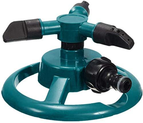 HTNBO Garden Sprinkler, Lawn Sprinklers for Yard, 360°Automatic Rotating Water Sprinkler System, Green and Black