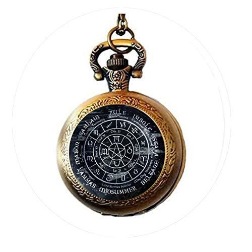 bab Maya-Kalender Anhänger Maya-Kalender Schmuck, Azteken-Kalender, 6 Taschenuhr-Halskette