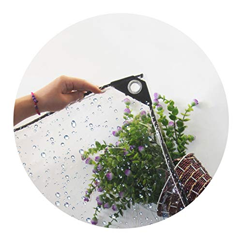 Toldo Impermeable, Paño Impermeable Transparente Prueba Herrumbre, Fuerte Resistencia Orificio Metal, Terraza Jardín Varios Tamaños LIANGLIANG (Color : Claro, Size : 2x3.6m)