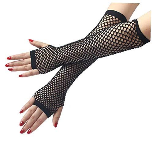 Nylon Fischernetz Handschuhe Half Finger Mesh-handschuhe Punk Lange Handschuhe Sexy Handschuhe Für Diskothek Bühnen Performalece Party-zubehör