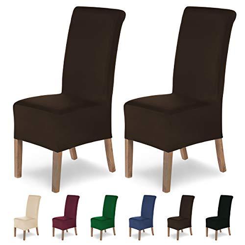 SCHEFFLER-Home Lena 2 Fundas de sillas, Estirable Cubiertas, Moderna extraíble flexibel Funda con B