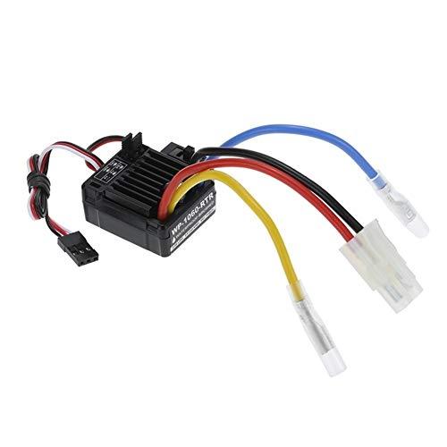 JLZK Calidad WP-1060-RTR Impermeables 2S-3S 60A ESC Cepillado de 1/10 HPI RC Piezas de Coches Durable (Color : Black)