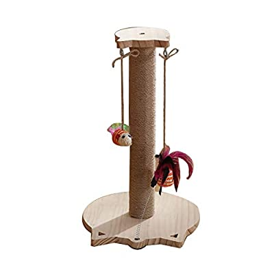 Amazon - 60% Off on 17″ Cat Scratching Pole with Sisal Rope Perch Platform, Kittens Scratch Tower