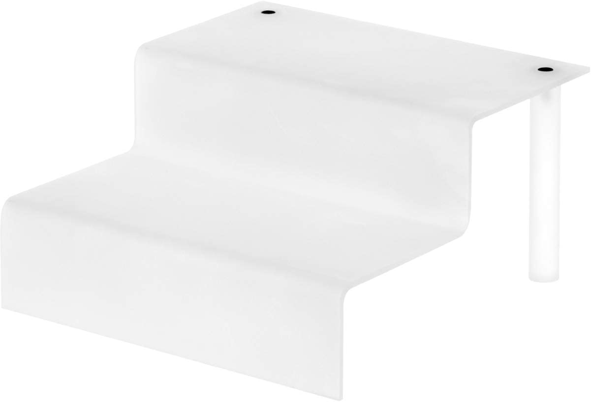 Plymor Frosted Acrylic 2-Step Display Stairs 8