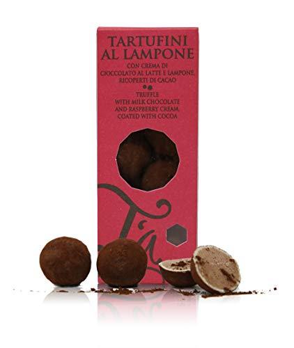 Ta Milano Trufas de Chocolate con Leche rellenas con Crema de frambuesas - 130 gr