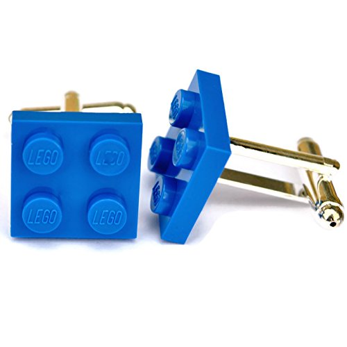 Lego® Plaque boutons de manchette (Bleu), mariage Mariés, Idée Cadeau pour Homme