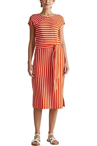 ESPRIT Collection Damen 040EO1E301 Kleid, 825/RED ORANGE, L