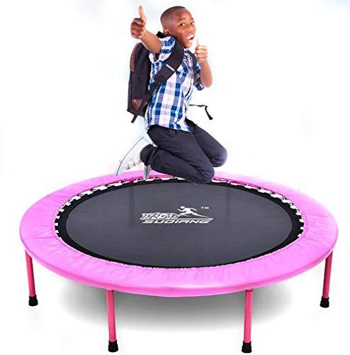 HYYQG Trampolin Fitness Plegable, Trampolines para NiñOs Interior Trampolines Infantil, Jardin Fitness Piscina Gimnasia Exterior Kid Active Profesional, Pink