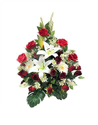 LBA Centro de Flores Artificiales para Cementerio. También para Iglesias. Especial Día de Todos los Santos. Medidas:...