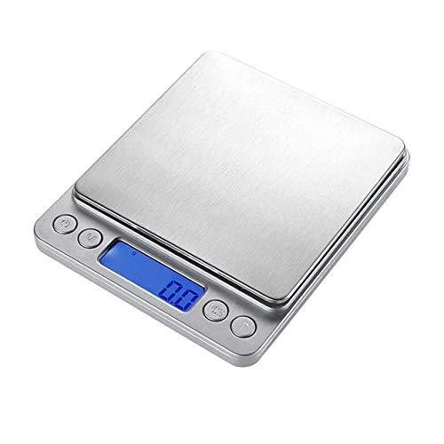 FEK 3Kg / 0.1G Báscula Digital de Cocina LCD Balanza electrónica Peso de Alimentos Básculas Postales Báscula electrónica portátil para Hornear
