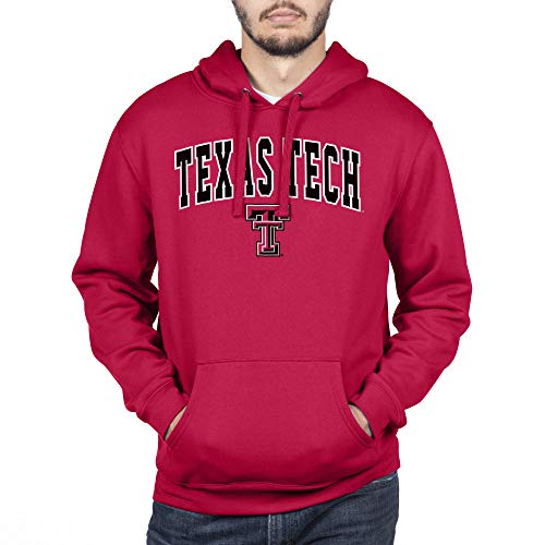 Top of the World NCAA Texas Tech Red Raiders Male Team Color Hoodie Sweatshirt, Texas Tech Red Raiders Red, X-Large