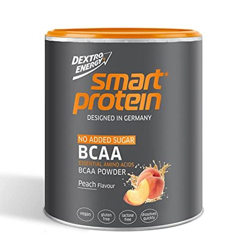 Dextro Energy Smart Protein BCAA Pulver mit Geschmack Pfirsich 350 g, Essentielle Aminosäuren 2:1:1 Verhältnis, Leckere BCAA Kapseln Alternative
