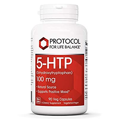 Protocol For Life Balance - 5-HTP (5-hydroxytryptophan) 100 mg - Supports Positive Mood, Promotes Healthy Sleep Patterns, Natural Weight Loss, & Supports Appetite Suppression - 90 Veg Capsules
