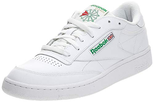 Reebok Herren Club C 85 Sneakers, Weiß (Intense-White / Green), 44.5 EU