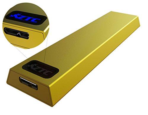 ZTC Trueno recinto NGFF M.2 SSD USB 3.0 - cáscara de Aluminio Oro, Tablero de tamaño 5-6GB/s