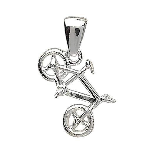 FranceBijoux - Ciondolo per bicicletta MTB, in argento massiccio 925, 5 g