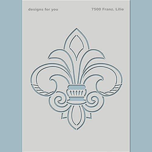 Schablone – Französische Lilie, 7500, Din A5, A4, Vintage, Möbel, Malerschablone