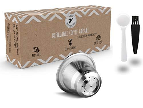 Wiederbefüllbare Nespresso Kaffeekapsel aus Edelstahl zum Nachfüllen - Wiederverwendbare Refill-Kapsel für umweltbewusste Kaffee-Liebhaber kompatibel mit Nespresso-Maschinen und Kapselhalter