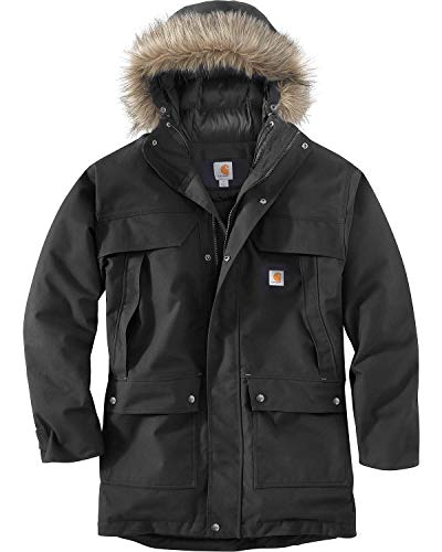 Carhartt Quick Duck Sawtooth Parka Manteau, Black, XXL Taille Normale Homme