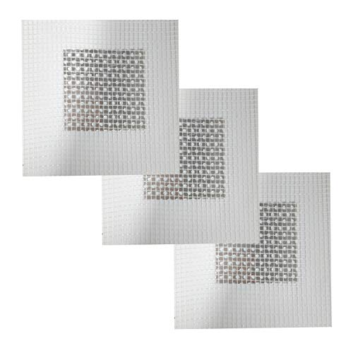 3 Pieces 2 Inch Wall Patch Repair, Drywall Repair Patch Self Adhesive Drywall Patch and Fiberglass Repair Kit, Heavy Duty Dry Wall Hole Repair Patch for Drywall Plasterboard (2 x 2 Inch)