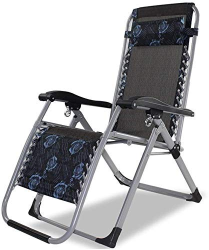 WJXBoos Tumbona reclinable para terraza reclinable al Aire Libre terraza reclinable terraza reclinable con sillas de jardín de Gravedad Cero (Color: Modelo Azul)