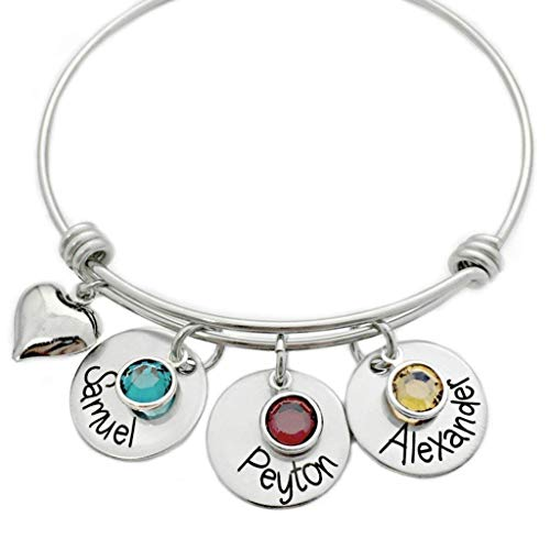Heart stamped bracelet thoughtful push present for new mom