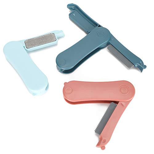 Cepillo de Limpieza de Pieles, removedor de Pelo para Mascotas, Pelo Duradero para Mascotas de Cachorros para sofá Limpiador de Muebles(Light Blue+Red+Dark Blue)