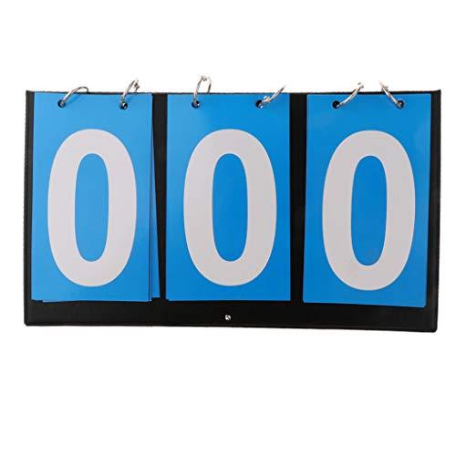 Hellery Tabellone Segnapunti Portatile a 3 Cifre, Piccolo Punteggio 99/999 per La Gara di Pallacanestro di Tennis - Blu