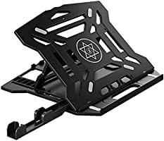 Xmate Portable Foldable Laptop Stand, Air Ventilated, 360° Rotating Base, 8-Angle Adjustment, for 11-15 Inch Laptops...