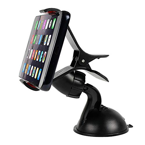 GSERA 360 Degree Rotating Auto Mobile Phone Bracket Clip Mounted On Windshield Dashboard Car Phone Holder For Iphone Ipad Gps