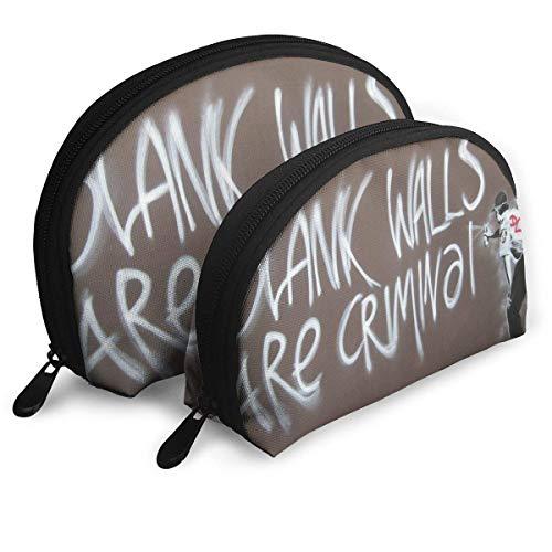 Leere Wände sind Crimwal tragbare Taschen Clutch Pouch Coin Purse Cosmetic Travel Aufbewahrungstasche 2Pcs Handtasche