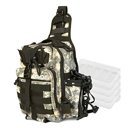 Lixada Bolsa de almacenamiento de aparejos de pesca impermeable bolsa de hombro...