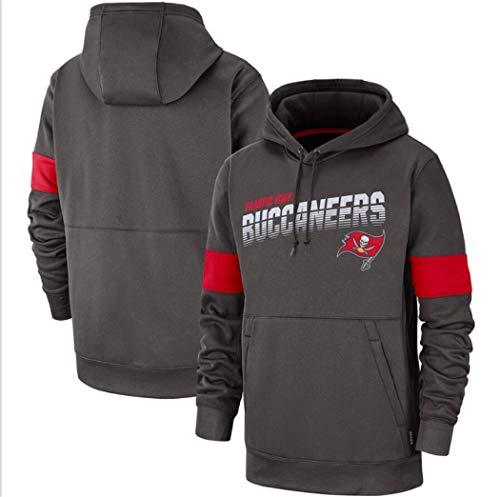 NFLLZM - Sudadera con capucha para hombre, diseño de fútbol americano americano, para aficionados al rugby, ideal para ropa deportiva de interior y exterior, con logotipo, talla XL, color azul