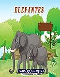 Elefantes Libro de colorear para niños de 3-9...