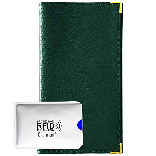 Charmoni – Pacey, custodia porta libro, porta carte di credito, carta d'identità, Verde (verde), TU