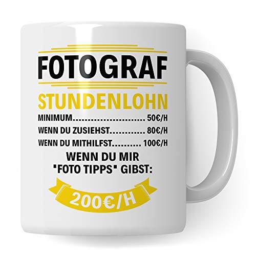 Pagma Druck Geschenk für Fotografen Becher, Tasse Fotograf, Kaffeetasse Fotografieren Spruch Objektiv Kameramann, Foto Kaffeebecher Photograf
