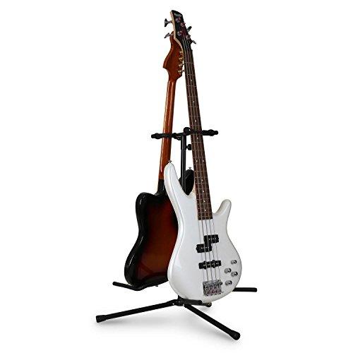 Auna Doppio Poggia-Chitarra/Basso Testa struttura a Y (per 2 chitarre/Bassi, Superfici in gommapiuma, Verniciato A Polvere)